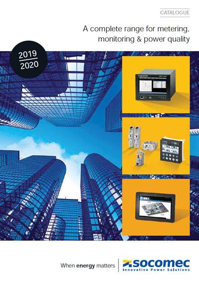 Socomec brochure - metering, monitoring & power quality